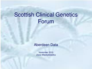 Scottish Clinical Genetics Forum