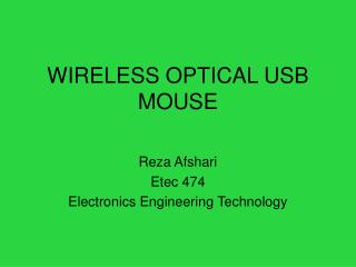 WIRELESS OPTICAL USB MOUSE
