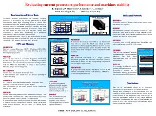 Evaluating current processors performance and machines stability