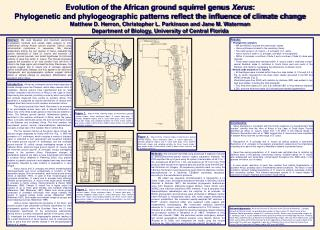 Evolution of the African ground squirrel genus Xerus: