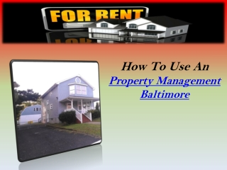 Property Management Baltimore