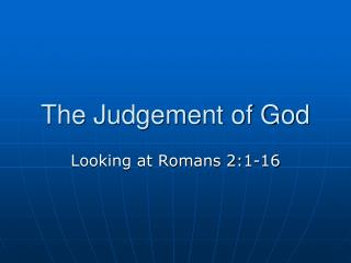 The Judgement of God