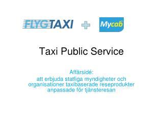 Taxi Public Service