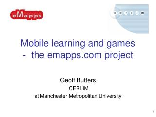 Mobile learning and games  -  the emapps project