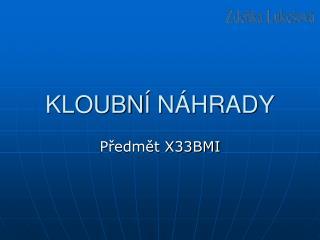 KLOUBN  N HRADY