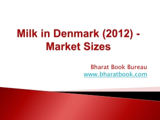 Milk in Denmark (2012) - Market Sizes