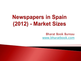 Newspapers in Spain (2012) - Market Sizes