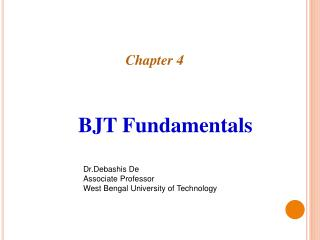 BJT Fundamentals