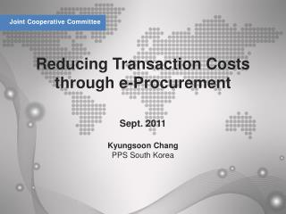 Reducing Transaction Costs through e-Procurement