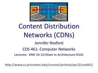 Content Distribution Networks CDNs