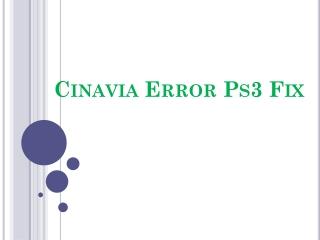 Cinavia Ps3 Fix