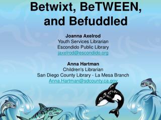 Joanna Axelrod Youth Services Librarian Escondido Public Library jaxelrodescondido  Anna Hartman  Childrens Librarian Sa