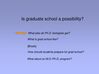 Is graduate school a possibility