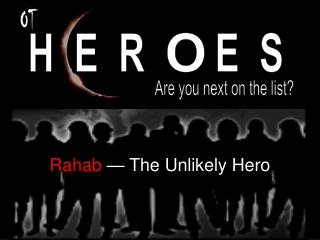 Rahab   The Unlikely Hero