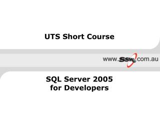 UTS Short Course SQL Server 2005