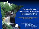 Exchanging and Maintaining Minnesota Hydrographic Data