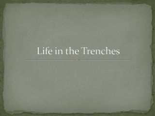 Trench conditions