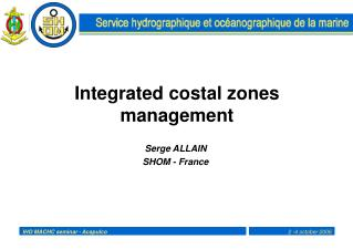 Integrated costal zones management