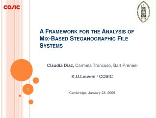 A Framework for the Analysis of Mix-Based Steganographic File Systems