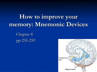 How to improve your memory: Mnemonic Devices