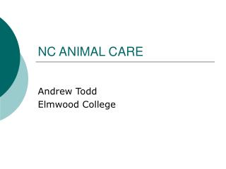 NC ANIMAL CARE