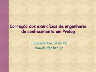 Corre  o dos exerc cios de engenharia do conhecimento em Prolog