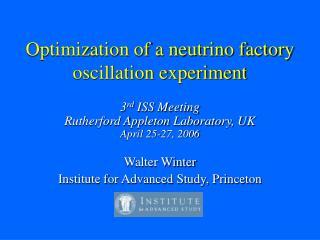 Optimization of a neutrino factory oscillation experiment