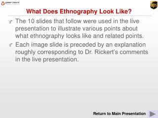 What Does Ethnography Look Like