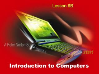LESSON 6B PC OPERATING SYSTEMS