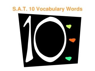 SAT Vocabulary for Freshmen
