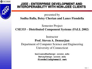 J2EE--1 J2EE - ENTERPRISE DEVELOPMENT AND