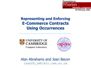 Representing and Enforcing  E-Commerce Contracts  Using Occurrences