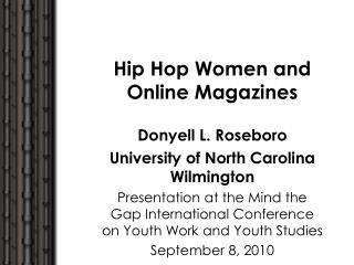Hip Hop Women and Online Magazines