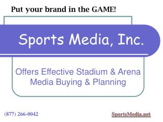 Offers Effective Stadium  Arena Media Buying  Planning