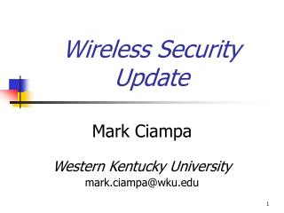Wireless Security Update