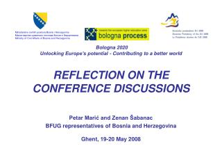 Bologna 2020 Unlocking Europe s potential - Contributing to a better world   REFLECTION ON THE CONFERENCE DISCUSSIONS