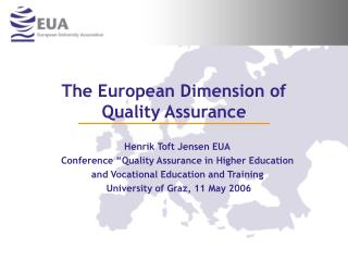 The European Dimension of  Quality Assurance