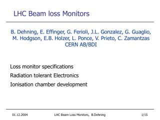 LHC Beam loss Monitors
