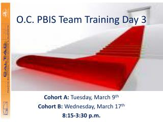 O.C. PBIS Team Training Day 3