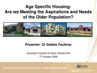 Flinders Institute for Housing, Urban  Regional Environments