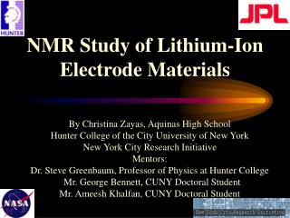 NMR Study of Lithium-Ion Electrode Materials