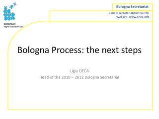 Bologna Process: the next steps