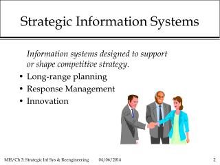 Strategic Information Systems  Business Reengineering