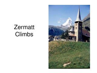 Zermatt Climbs