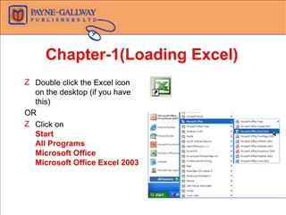 Chapter-1Loading Excel