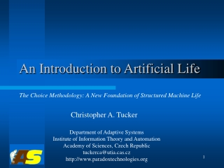 An Introduction to Artificial Life