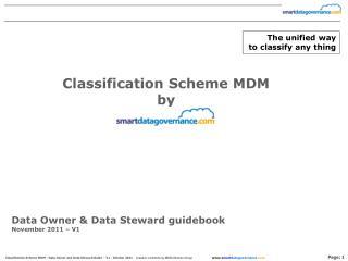 Data Owner  Data Steward guidebook November 2011   V1
