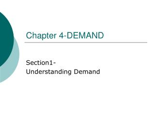 Chapter 4-DEMAND
