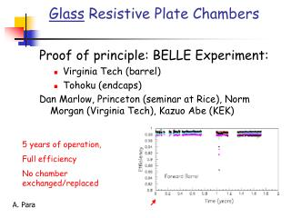 Glass Resistive Plate Chambers