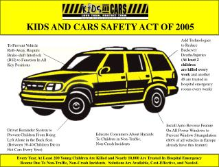 KIDS AND CARS SAFETY ACT OF 2005